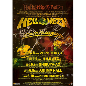 2013 – Hellish Rock Part II Japan Tour -13 – Flyer.