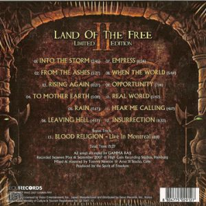 2007 – Land Of The Free II – Limited First Edition Cd – Korea.