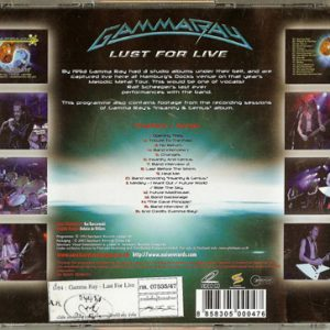 2003 – Lust For Live – VCD – Thailand.