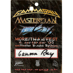 2003 – More Than Fest Pass – 6/9.