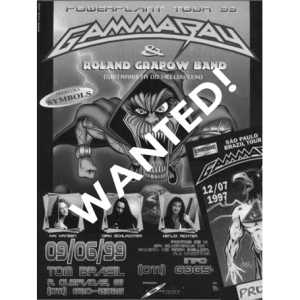 WANTED: 1999 – PowerPlant South America – Tour -99 – Flyer.
