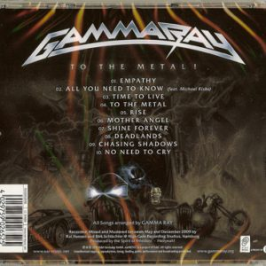 2010 – To The Metal – Cd.