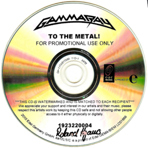 2010 – To The Metal – Cd – Promo.