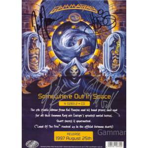 1997 – Somewhere Out In Space Pressfolder Promo Flyer.
