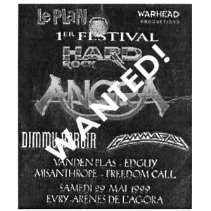 WANTED: 1999 – PowerPlant French Tour – Poster.