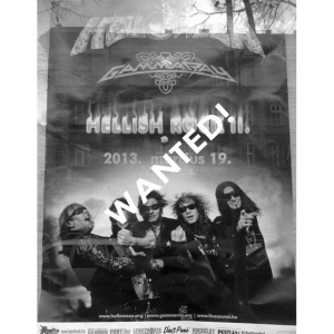 WANTED: 2013 – Hellish Rock Tour Part 2 Hungary – Tour Poster.