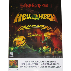 2013 – Hellish Rock Tour Part 2 – Sweden Tour – Poster.