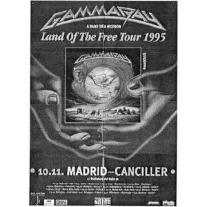 WANTED: 1995 – Land Of The Free –  Tour 95 – Spain.