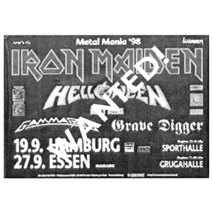 WANTED: 1998 – Metal Mania 98 Tour Poster.