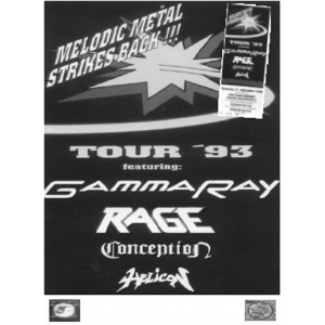 WANTED: 1993 – Melodic Metal Strikes Back!!! – Tour 93 Poster.
