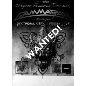 WANTED: 2005 – Majestic European Tour Poster.