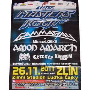 2011 – Winter Masters of Rock – Tour Poster – Czech Republic.