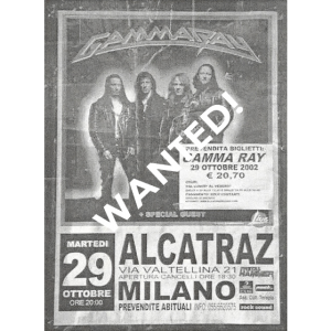 WANTED: 2002 – Skeletons In The Closet Tour – Spain – Poster.