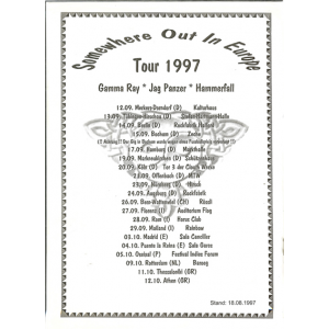 Somewhere Out in Europe – Tour 1997 Info.