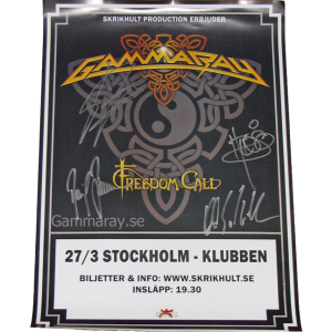 2010 – To The Metal Tour – Stockholm Poster.