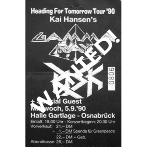 WANTED: Heading For Tomorrow Ticket – 5/9 – 1990.