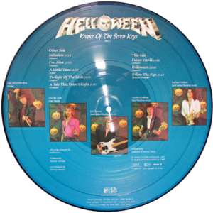 1987 – Keeper Of The Seven Keys Part I – Picture Disc.