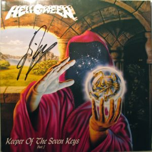 1987 – Keeper Of The Seven Keys Part I – Lp – Blue Vinyl & Poster.