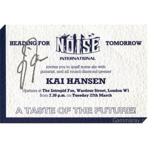 "Ticket to the UK record release party for the ""Heading For Tomorrow""."