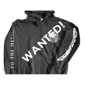WANTED: To The Metal – Tour 2010 – Zip Hoodie.