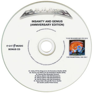 2016 – Insanity And Genius (Anniversary Edition) – Promo 2Cd-r.