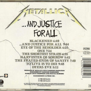 1988 – …And Justice For All – Cd