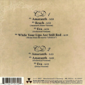 2007 – Amaranth – Digipack – 2Cds